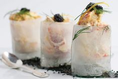 Lobster Salad in Ice Cups