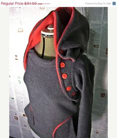 nursing hoodie For New Moms Everywhere - winter fleece HOODIE and nursing function Upgrade Fee.  choose your colors.. $91.00, via Etsy. I know this is a nursing hoodie, but this looks pretty cool.