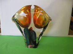 """Elegant David Lotton Art Glass Organic Sculpture Hand Blown Double 12 1/4"""" Vase #lotton #sculpture #vase #handblown #bonanza #freeshipping #teamsellit"""
