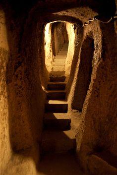 Kaymakli, the underground city  by ika6_, via Flickr|Cappadocia,Turkey.