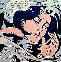 Roy Lichtenstein, 'Drowning Girl' 1963