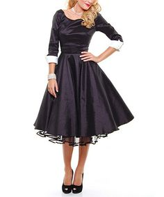 Another great find on #zulily! Black Donna Reed Dress - Women #zulilyfinds