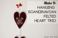 Hanging Felt Heart T