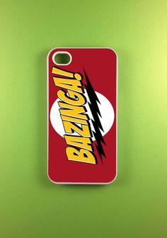 Iphone 4s Case - Bazinga Iphone Case, Iphone 4 Case [big bang theory :) ]