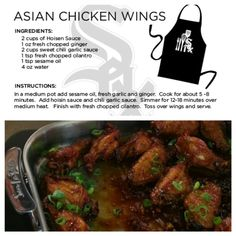 @Chicago White Sox Chef Olegario's Asian Chicken Wings recipe.