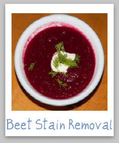 How to remove beet stains from clothes, upholstery and carpet {on Stain Removal 101}
