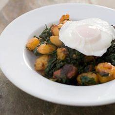 Kale, chorizo and potato hash.