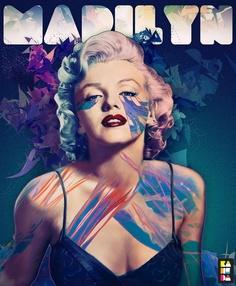 Alessandro Pautasso graphic design, icon, marilyn monroe, behance, alessandro pautasso, art, graphics, blog, blues