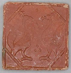 Afganistan Early C13th molded tile mold tile, mediev tile