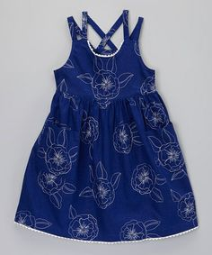 Take a look at this Navy Blue Flower Sun Dress - Toddler & Girls by Willoughby on #zulily today!