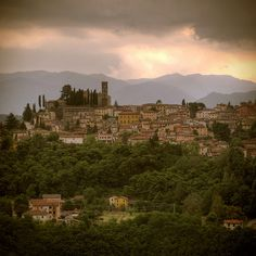Medieval Hill Town - Barga, Lucca,Tuscany
