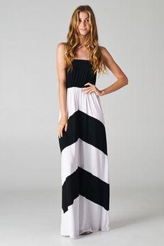 Knox Chevron Maxi Dress