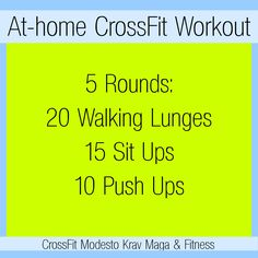 CrossFit workout you can do at your house!