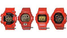 Seria zegarkow Casio G-Shock - Rising Red