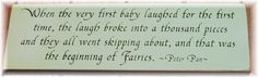 Beginning of fairies-Peter Pan plaque