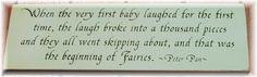 Beginning of fairies-Peter Pan plaque