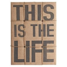 This Is The Life noteboard
