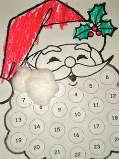 Santa's beard advent.  This has a good printable along with it.