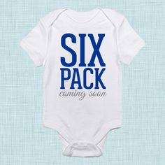 Six Pack Coming Soon, Baby Boy Clothes, Baby Workout, Funny Baby Clothes