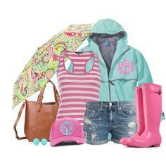 """""""Summer Showers"""" by qtpiekelso on Polyvore"""