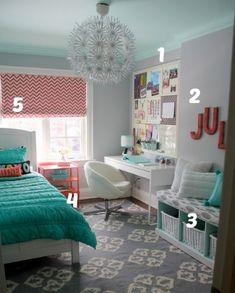 5 ways to get this look   Tween girl's room