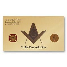 Freemason Masonic Business Cards Invitation Cards