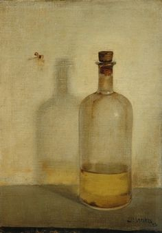 jan mank, artist, oil bottl
