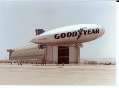 The Goodyear blimp has flown over sporting events for over 50 years. The C-49 control car on this airship saw duty over the 1977, 1980, 1983, and 1985 Super Bowls. The Goodyear blimp pictured here, Columbia N4A, also starred in the Hollywood thriller Black Sunday (1977) / Courtesy of Goodyear