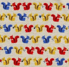 Sweet squirrel fabric for tables? hanging screens or panels?