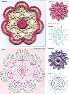 Diagramme fleur au crochet.