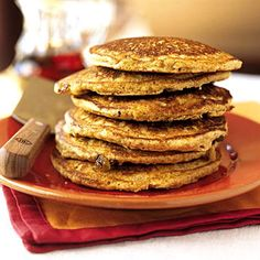 Pancakes for #breakfast? Sure, as long as you use applesauce to slash fat and add fiber, and toss in some crunchy walnuts for a hit of monounsaturated and polyunsaturated fats. | health.com