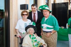 Emmanuel College Alumni St. Patrick's Event   Naples, FL   3.15.14 - Denise Phelan Muise, Mary Blood Phelan '53 and Paul Phelan with Chris Leonardi '07