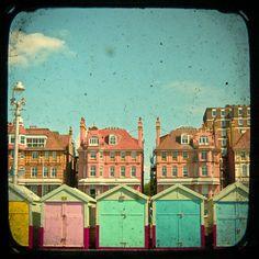 Hove Promenade & beach huts: Print by CassiaBeck