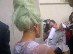 mint pastel hair