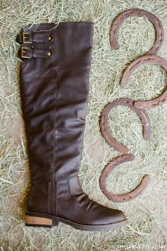 Brown leather riding boots. #equestrian #ruche #shopruche
