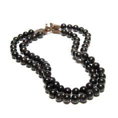 Fair Trade Black Bead #Necklace  Country of Origin: Brazil