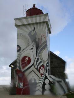 Obrestad fyr Lighthouse~Obrestad~Hå Kongeriket~Norway