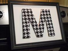 Monogram fabric letter