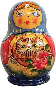 Kitty - Russian Nesting Dolls - Matryoshka Nesting Dolls