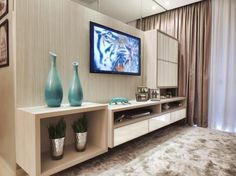 Sala de estar projetada por Caroline Yasmin Gonçalves,