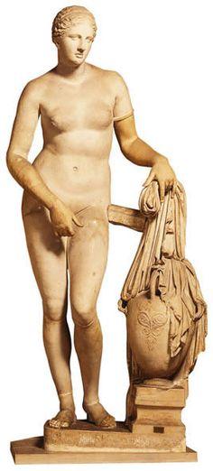 *** Afrodita Cnida (S.IV a.C.) de Praxíteles, Roma, Museo Vaticano.