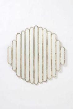 Abate Slatted Mirror interior, mirrors, abat slat, anthropologie, slat mirror, object, abat mirror, art deco, design