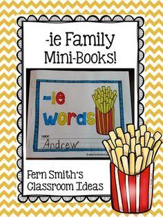 Printable Phonics Mini-Books for the -ie Family #TPT $Paid
