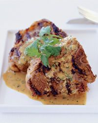 Grilled Lamb Chops with Tahini Sauce Recipe on Food & Wine