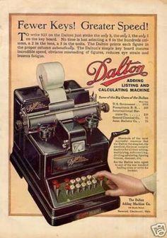 Dalton Adding Calculating Machine (1917).