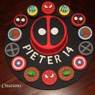 Deadpool Birthday Cake