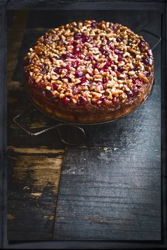 Cranberry Upside-down Cake a thanksgiving favorite