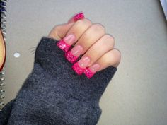Cute polish but nails need to be shaped! Too wide and spade-shaped.