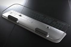 Glass multi-touch keyboard & mouse.