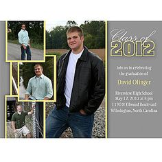 Add senior pics to this Graduation Invite! senior pic